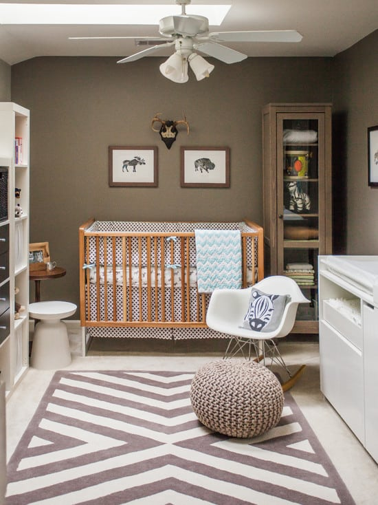9 ways to create a modern nursery for a boy kwd for Modern unisex nursery ideas