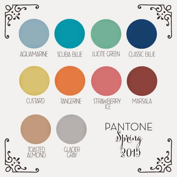 Get inspired with pantone 39 s 2015 color palette kristina wolf - Color pantone 2015 ...
