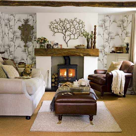 8 ways to create a warm and snuggly living room kwd for Warm cozy living room ideas