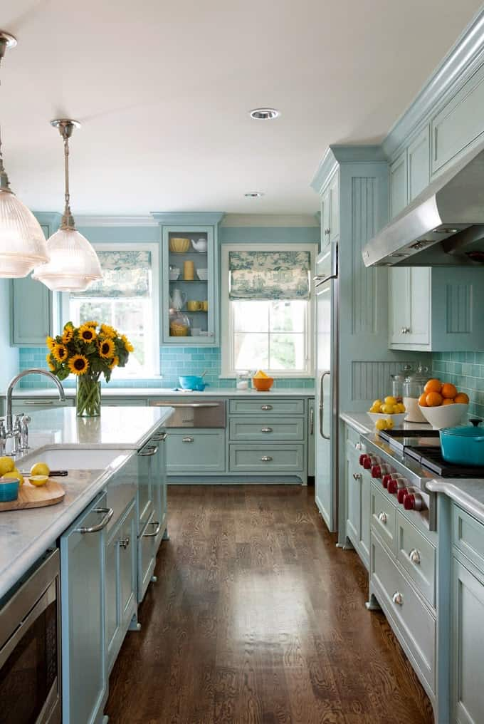Turquoise Kitchen Design Ideas ~ Budget friendly tips for re decorating your kitchen