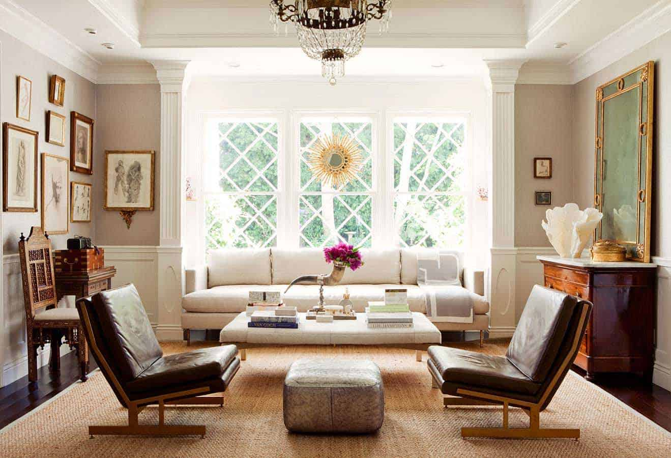 Arranging living room furniture kristina wolf design for Family room arrangements